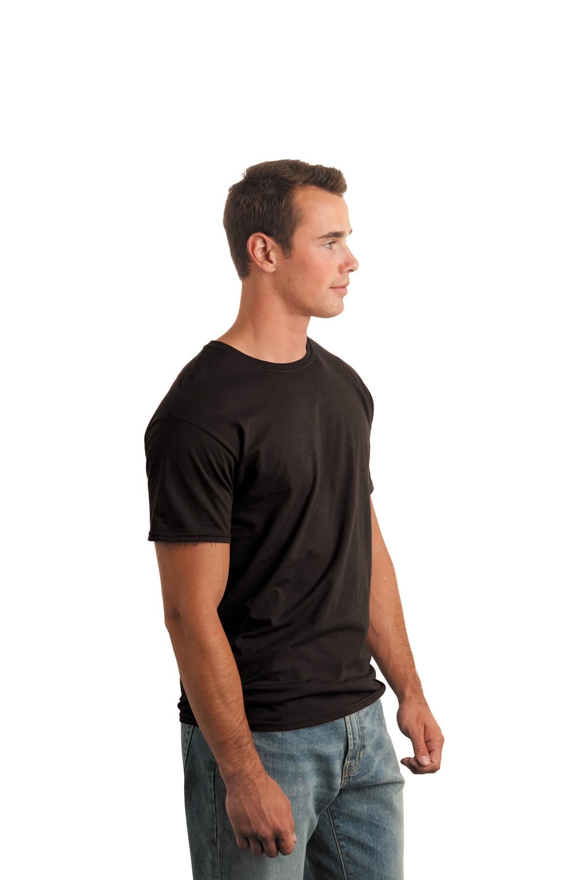 Dark Chocolate T-Shirt Model Side
