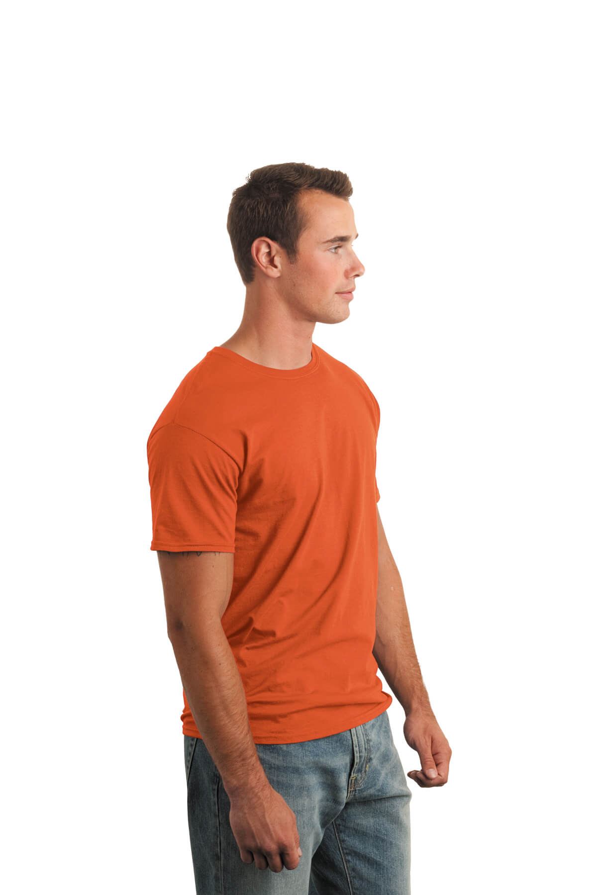 Orange T-Shirt Model Side