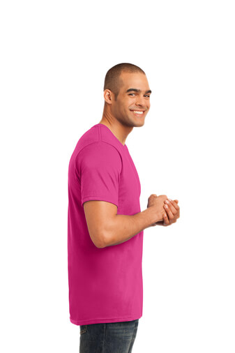 Hot Pink Custom Tee Model Right