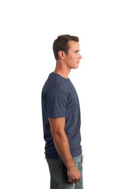 Heather Navy T-Shirt Model Right
