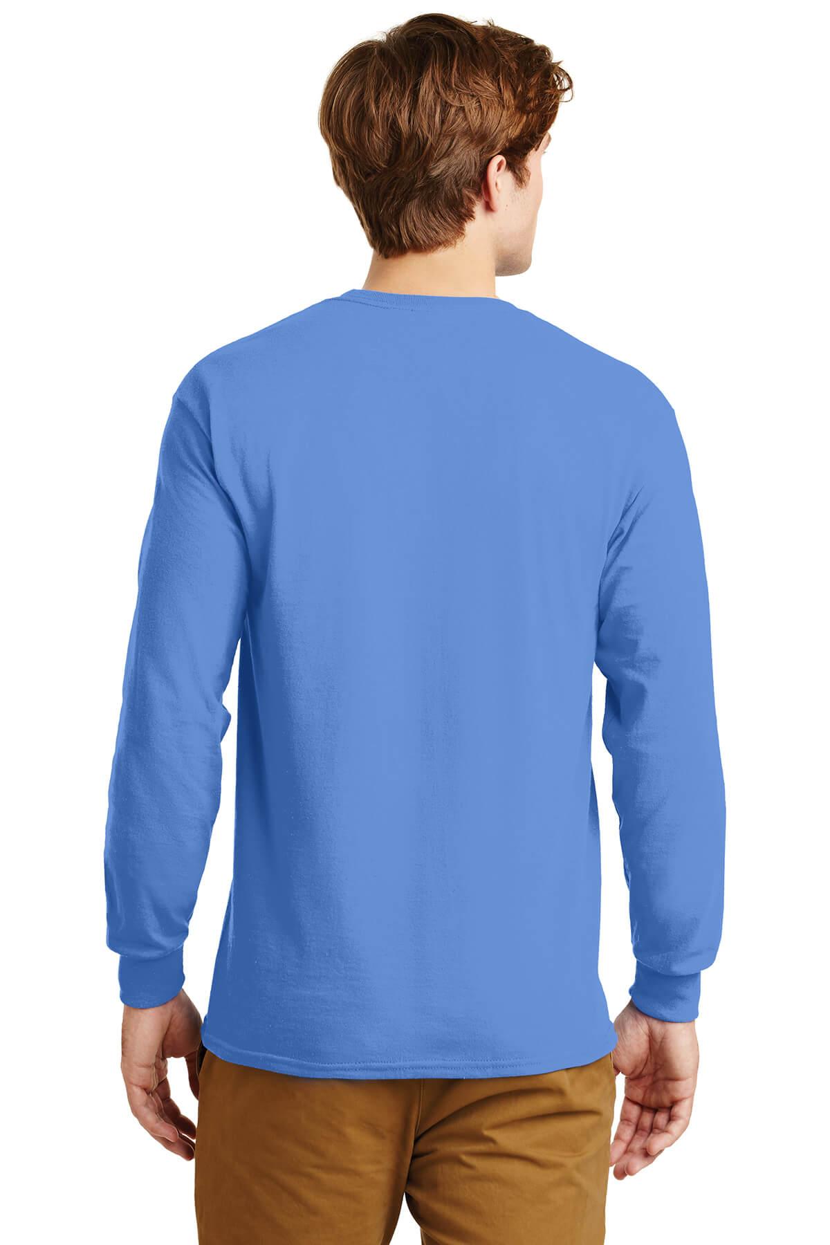 Blue Longsleeve Tee Model Back