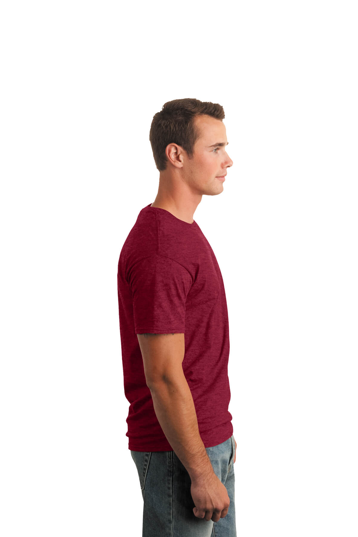 Cherry Red T-Shirt Model Right