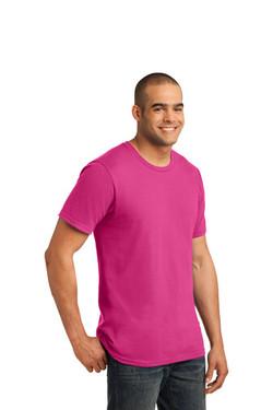 Hot Pink Custom Tee Model Side