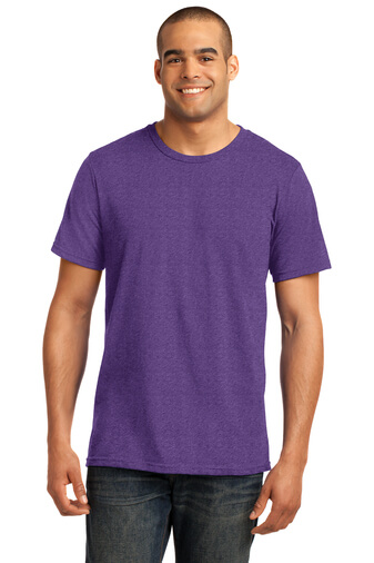 Purple Custom Tee Model Front
