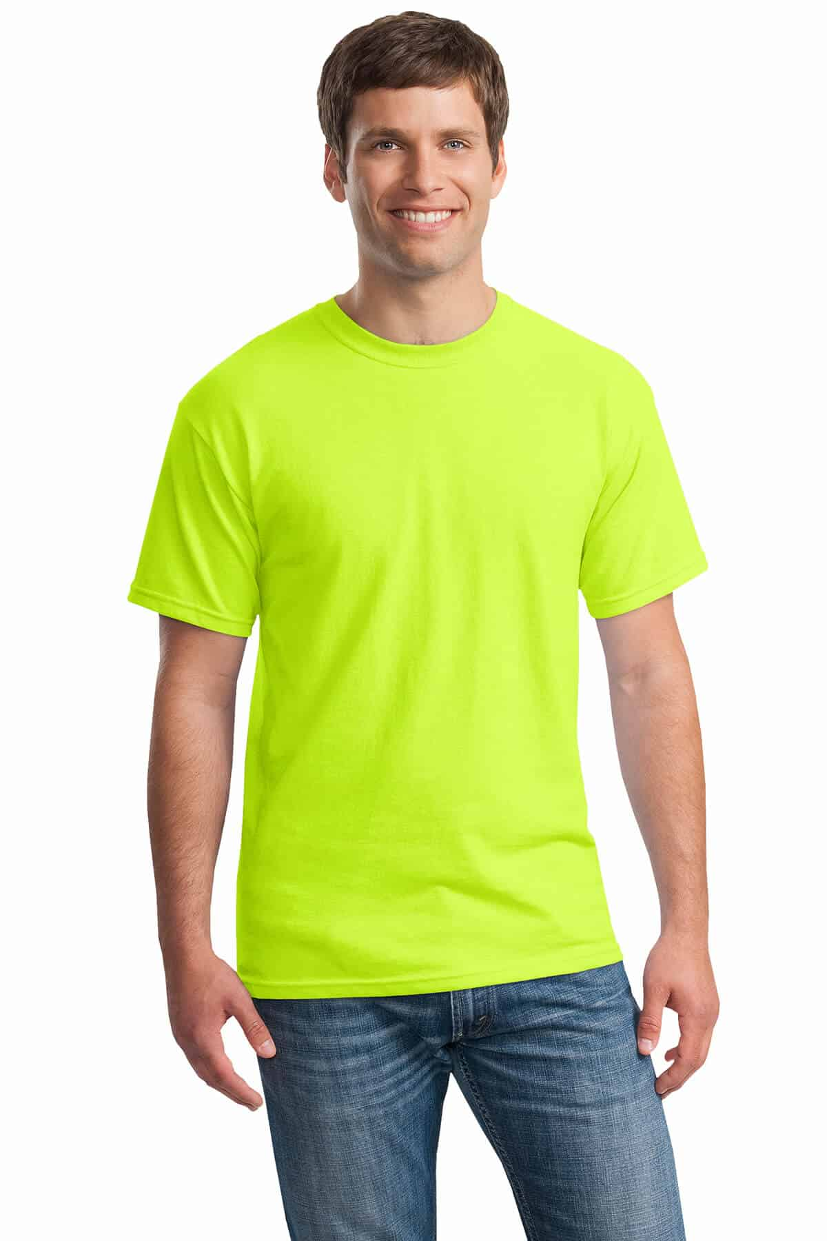 Safety Green Tee Front