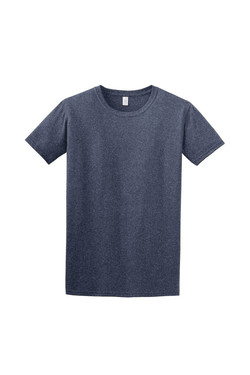 Heather Navy T-Shirt Front