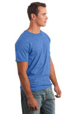 Heather Royal T-Shirt Model Side