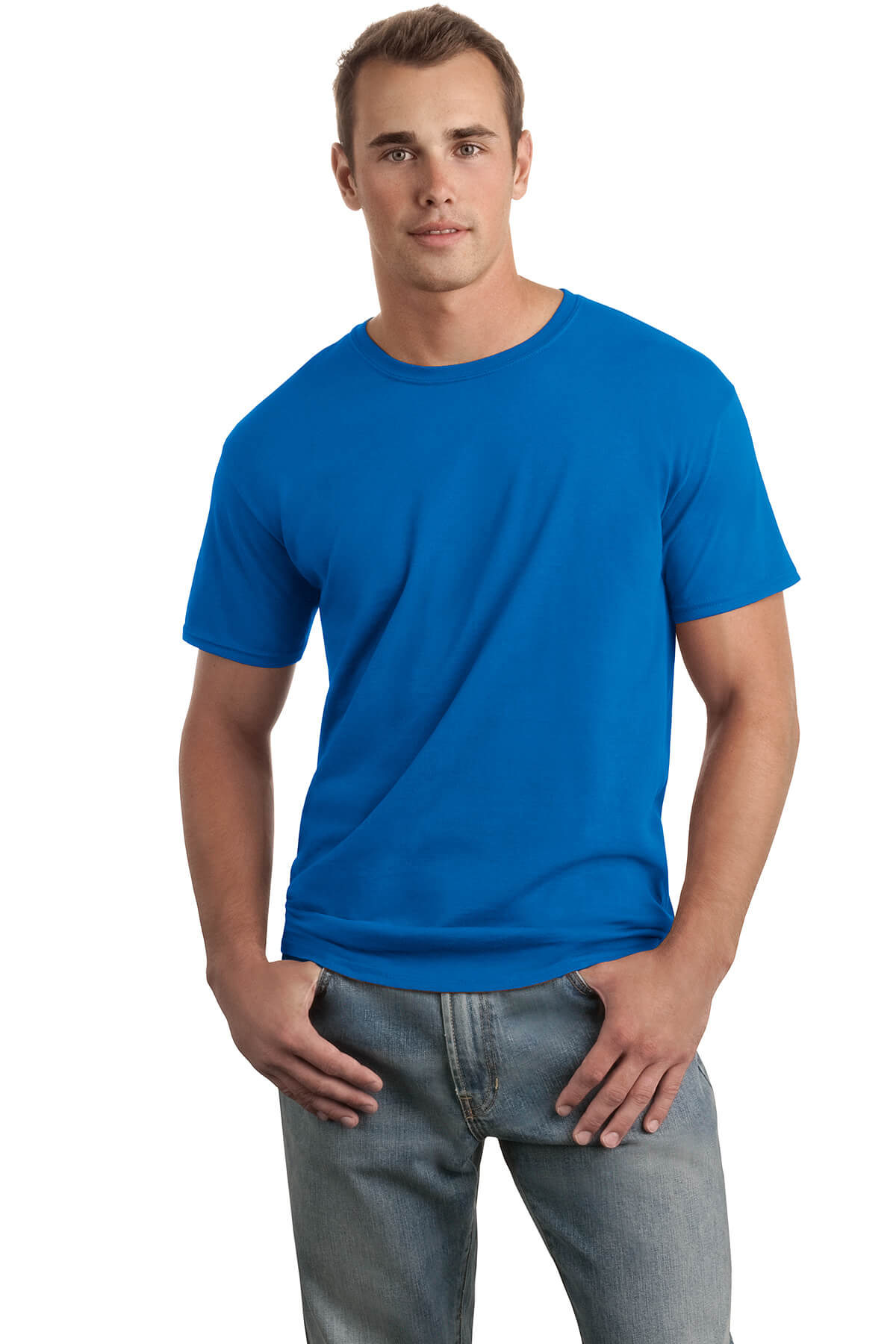Royal Blue T-Shirt Model Front
