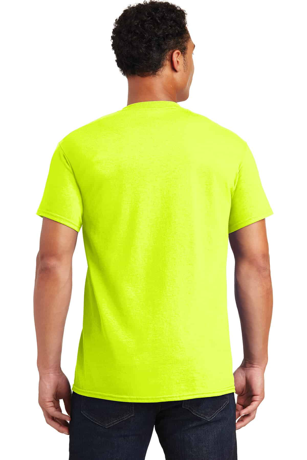 Safety Green Teeshirt Back