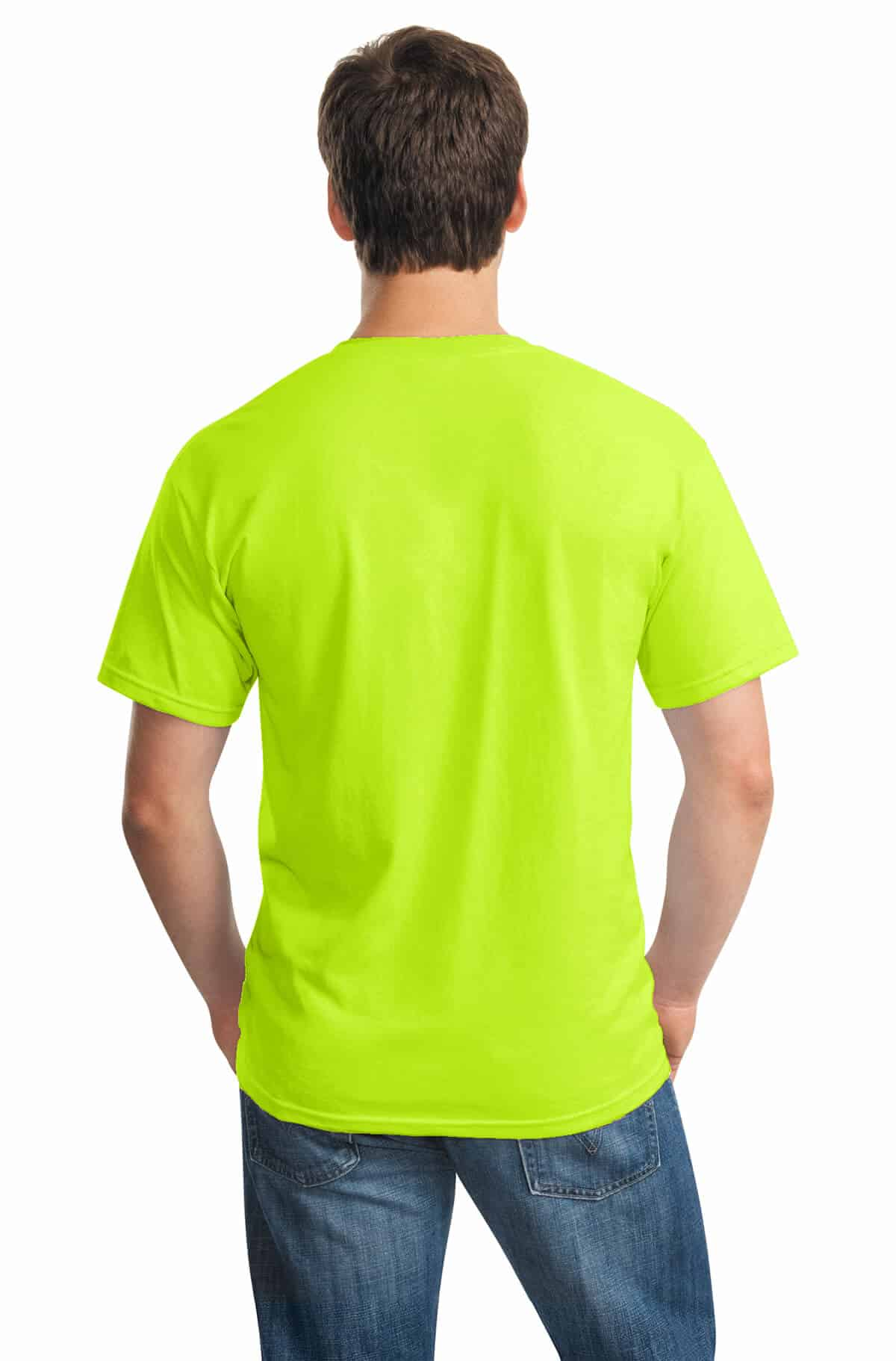 Safety Green Tee Back