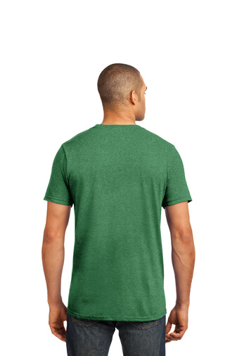 Heather Green Custom Tee Model Back