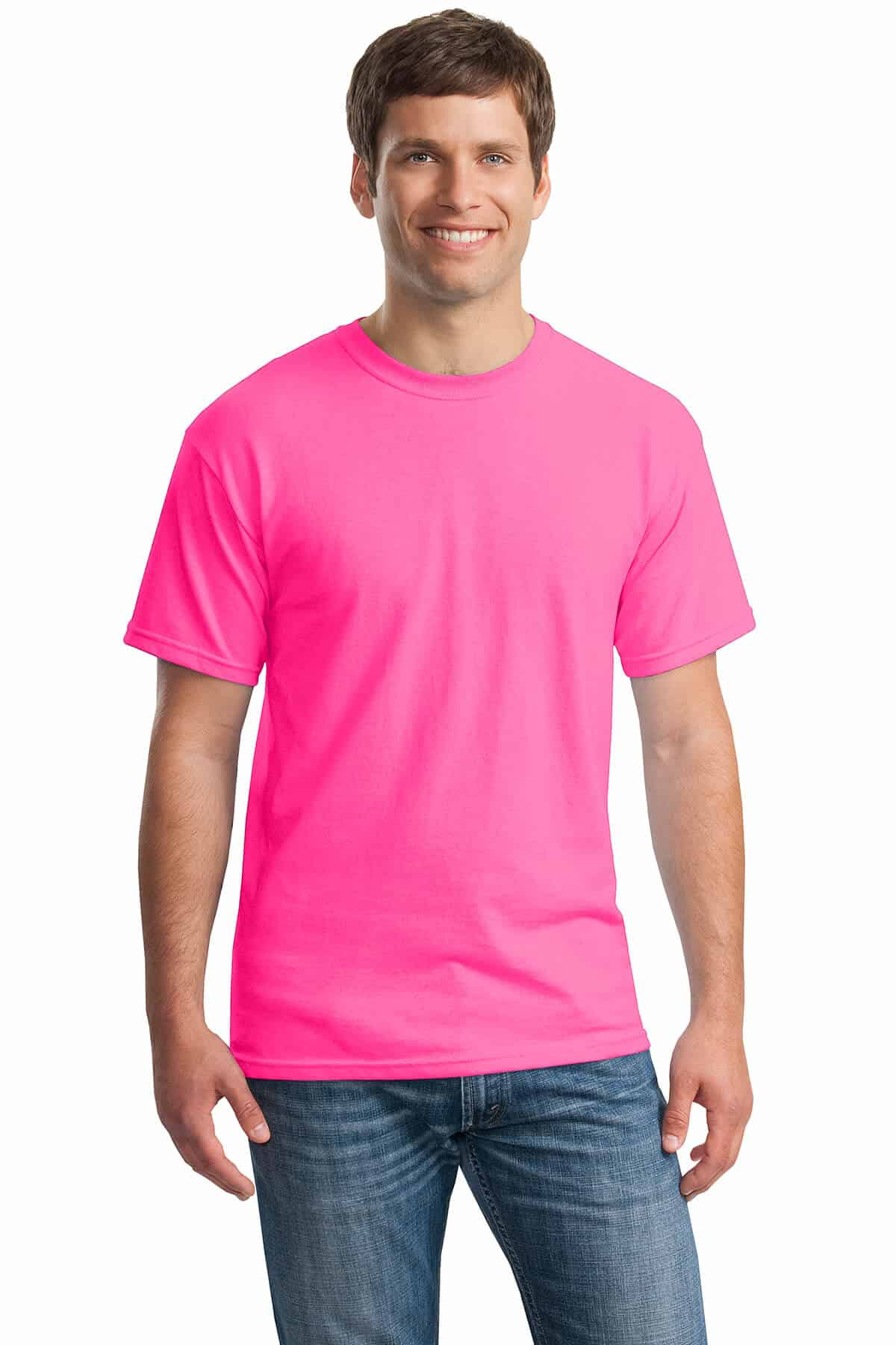 Safety Pink Tee Front