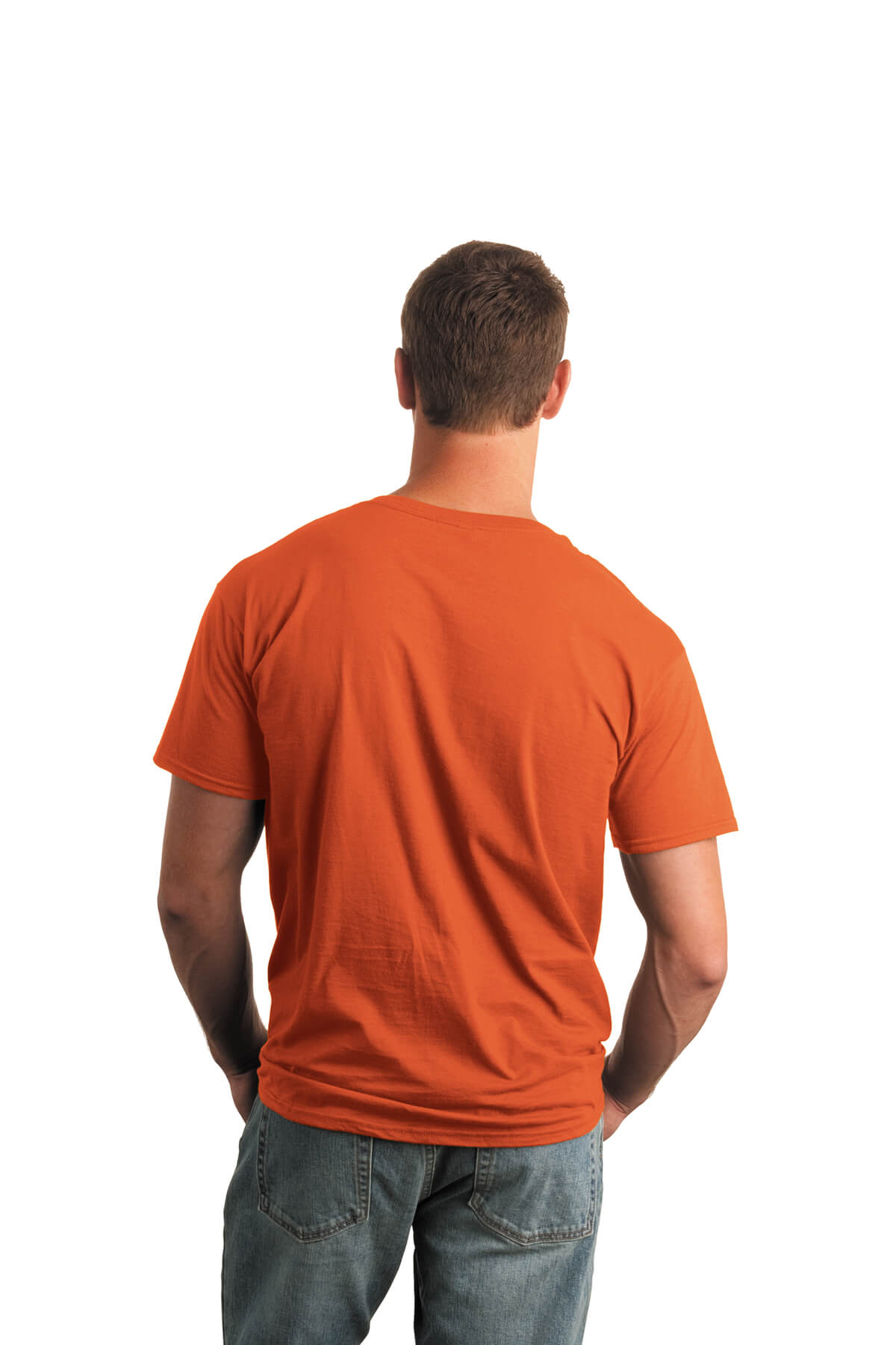 Orange T-Shirt Model Back