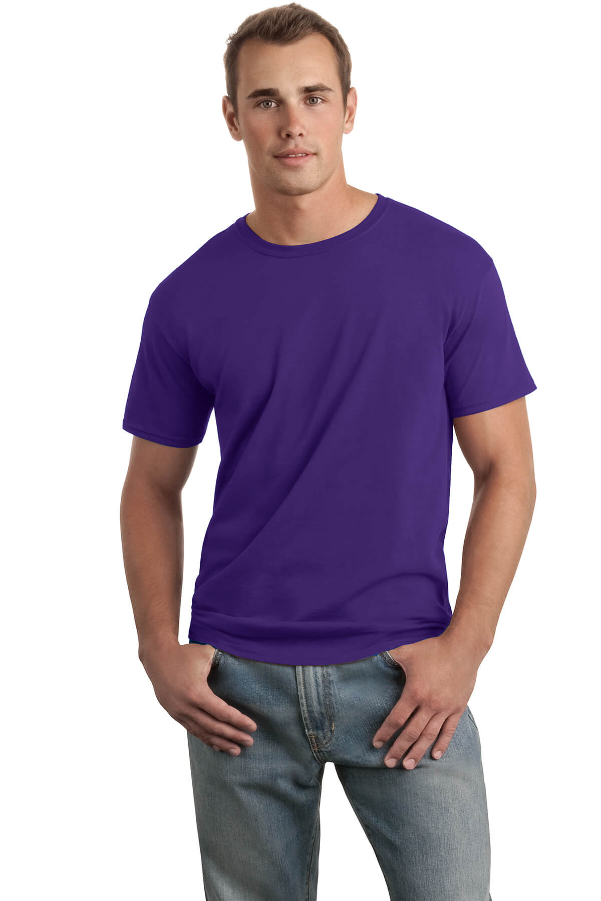Purple T-Shirt Model Front