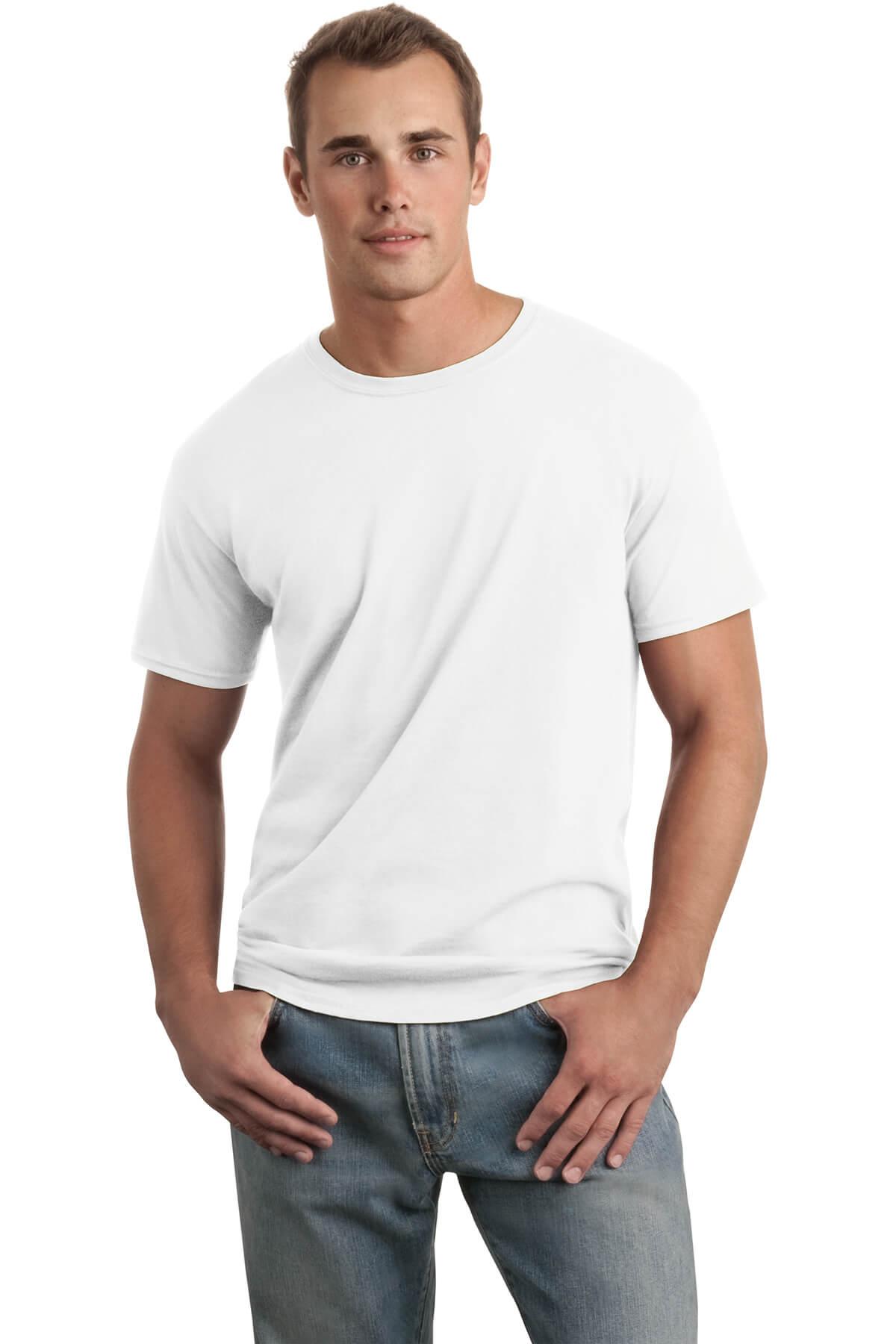 White T-Shirt Model Front1