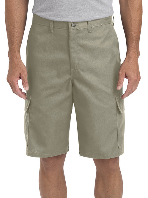 "Dickies Men's 11"" Regular Fit Industrial Cargo Short - Desert"