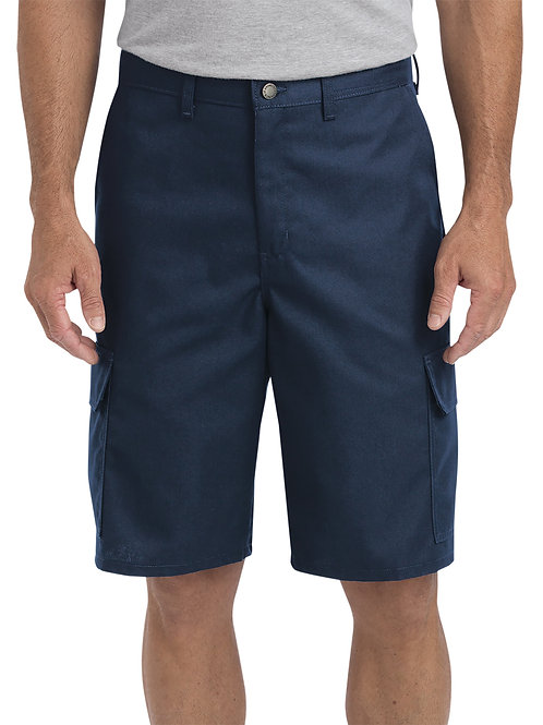 "Dickies Men's 11"" Regular Fit Industrial Cargo Short - Navy"