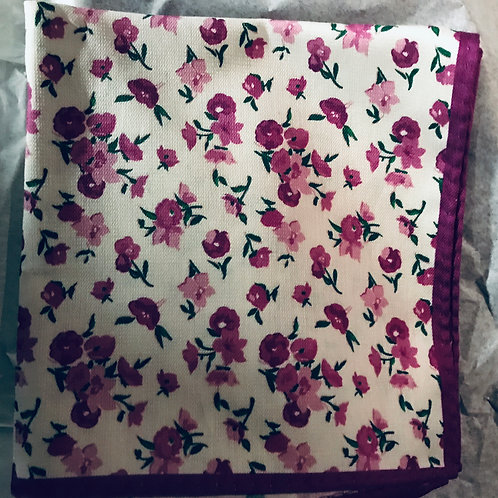 Pink Poppies Pocket Square