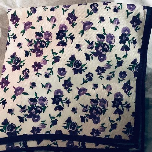 Purple Poppies Pocket Square