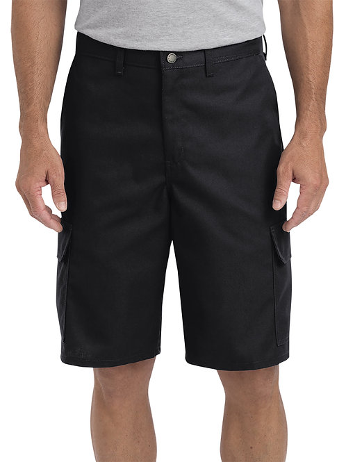 "Dickies Men's 11"" Regular Fit Industrial Cargo Short - Black"