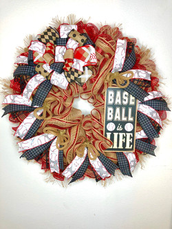 Rustic Baseball Wreath