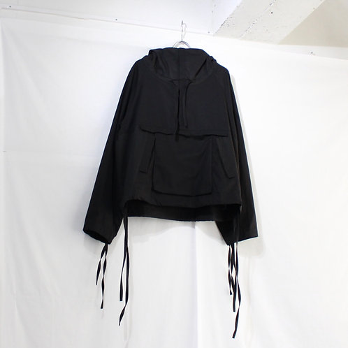 VOAAOV cotton food anorak black size.2