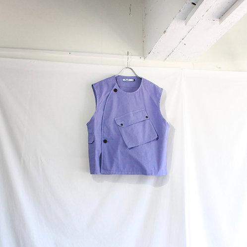 foof overdye cargo vest violet