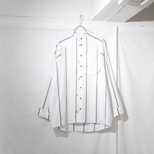 my beautiful landlet LOOSE DRESS STAND COLLAR SHIRT white