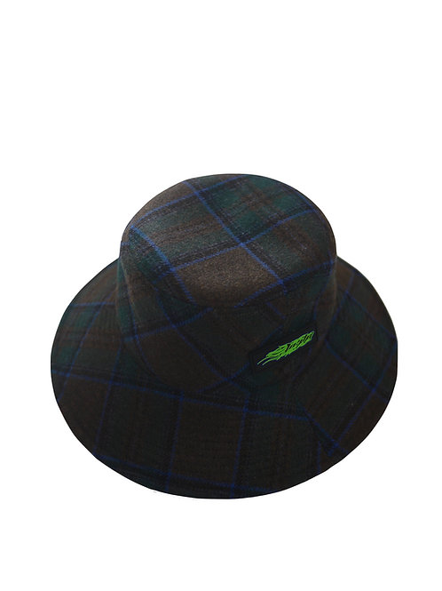 jieDa PLAID LONG BRIM BUCKET HAT