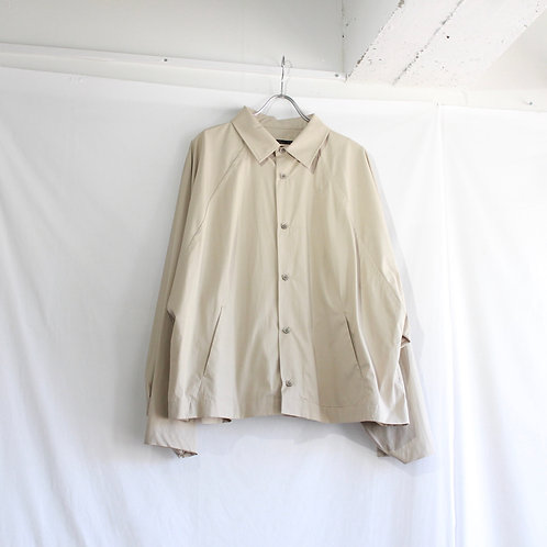 my beautiful landlet typewriter wide yoke shirt beige size.1