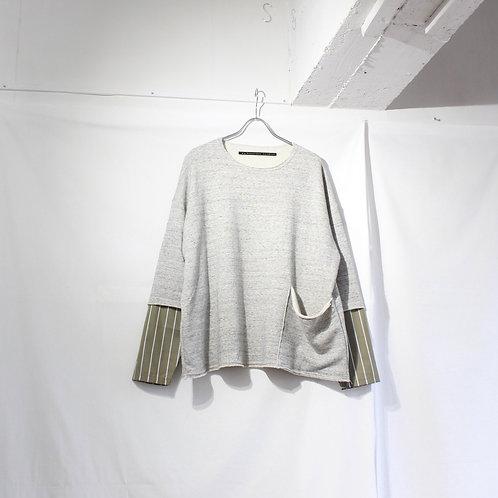 my beautiful landlet cotton shirt sleeve L/S tee grey