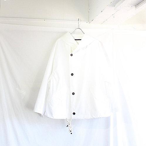 my beautiful landlet TECHNO HOODED BLOUSON white