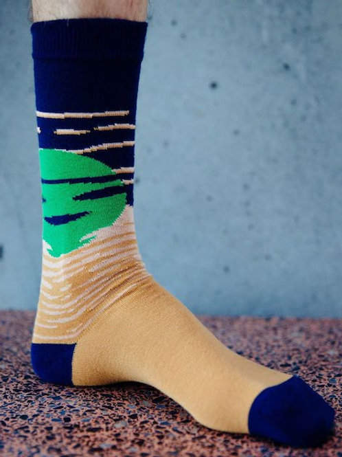 HENRIK VIBSCOV SUNDOWN SOCKS GREEN MOON