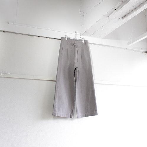 CLICK PEBBLE cotton wide pants