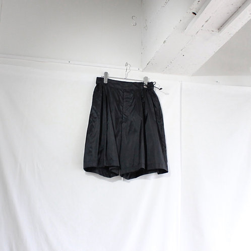 my beautiful landlet ripstop nylon switching wide shorts black