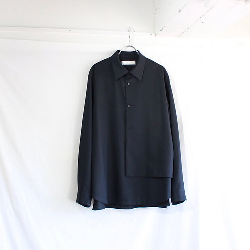 ETHOSENS pullover layer shirt navy