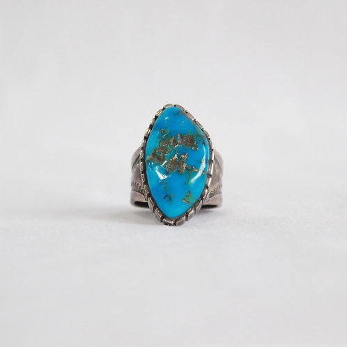 turquoise & silver ring #7