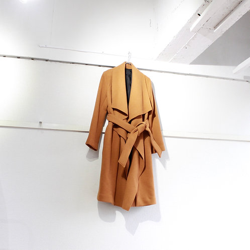 you ozeki double face drape coat