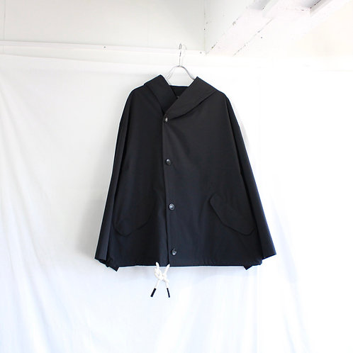 my beautiful landlet TECHNO HOODED BLOUSON black
