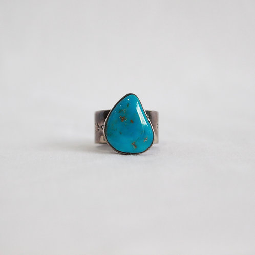 turquoise & silver ring #9