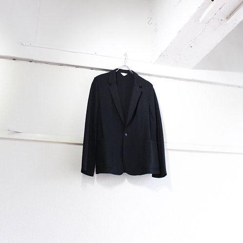THEE wool jersey jacket black