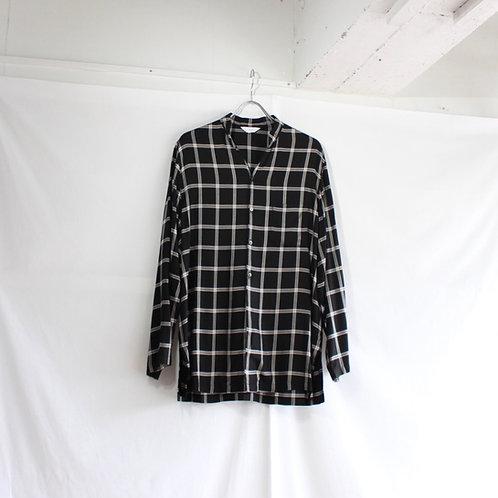 THEE double button china shirt black tartan size.1