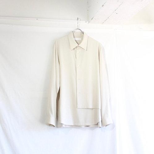 ETHOSENS pullover layer shirt greige