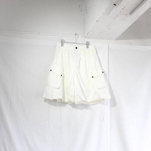 foof overdye cargo shorts white