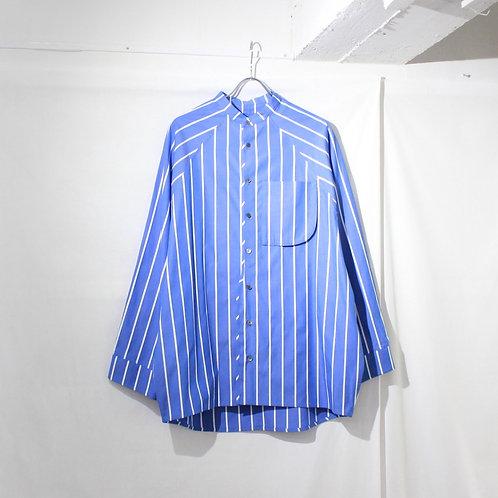 my beautiful landlet LOOSE DRESS STAND COLLAR SHIRT blue