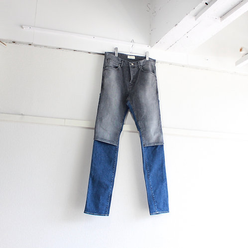 jieDa 2way denim pants blk×ind used size.2