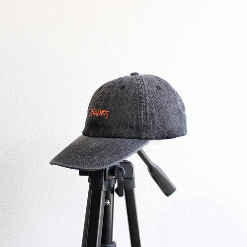 TAG DOES NOT MAKE YOU.denim cap black