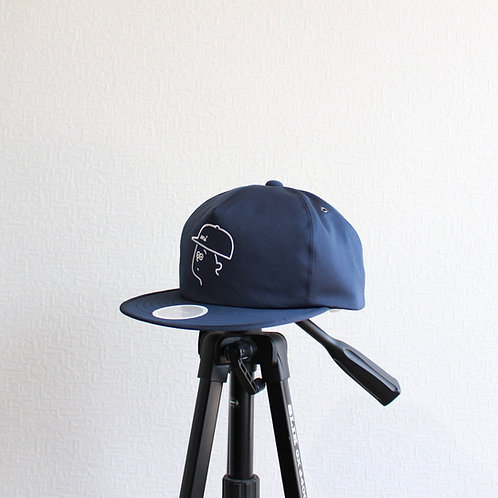 mitake embroidery cap navy size.0(58㎝)