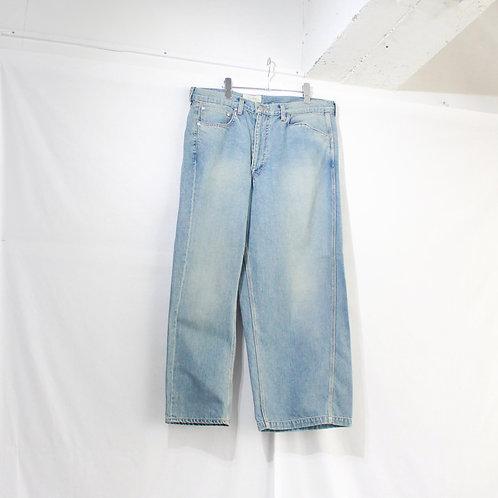 jieDa asymmetry denim pants used