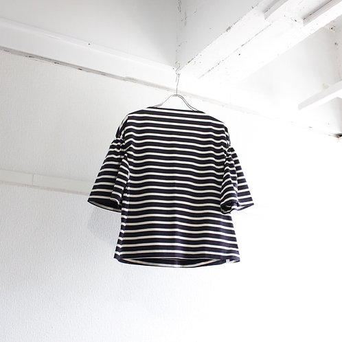 supp. border puff sleeve tee navy